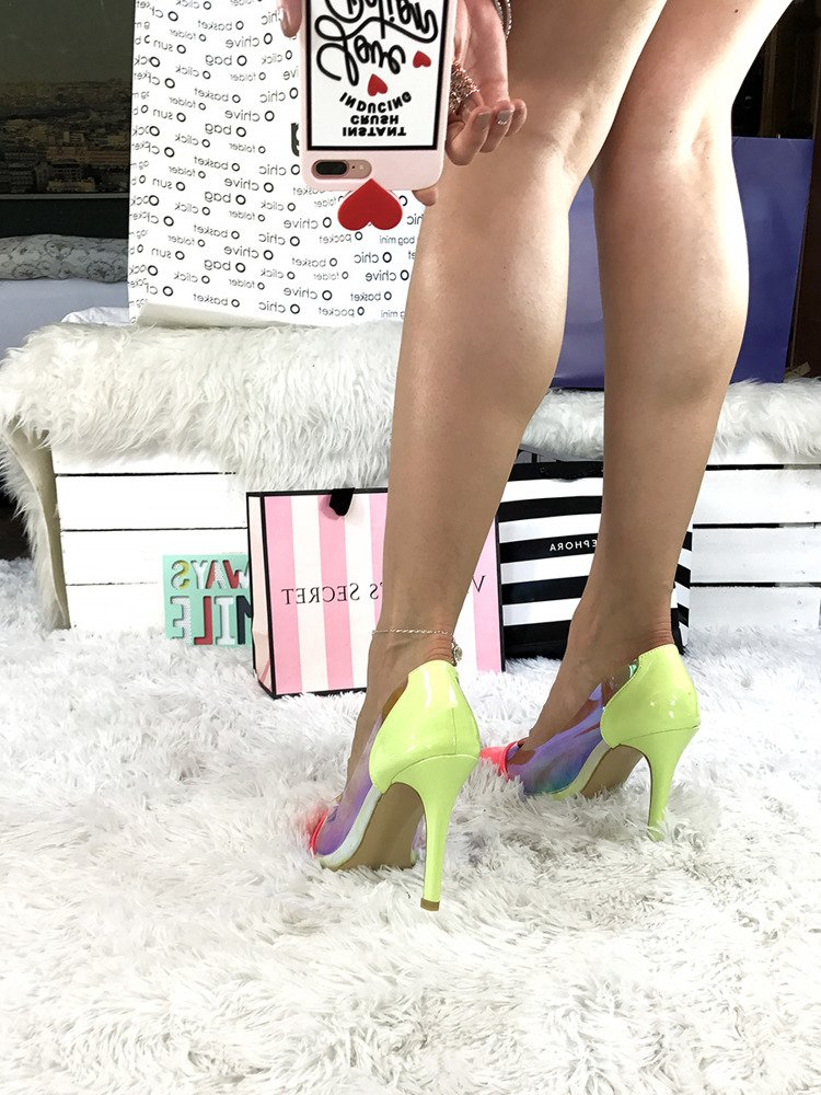 Holographic Stiletto Perspex High Heel