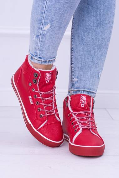 Big Star Insulated Red Women's Sneakers Shoes BB274003