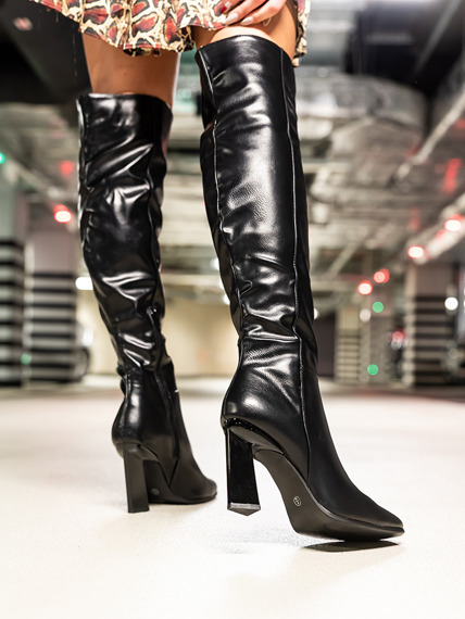 Black Elegant Knee High Boots