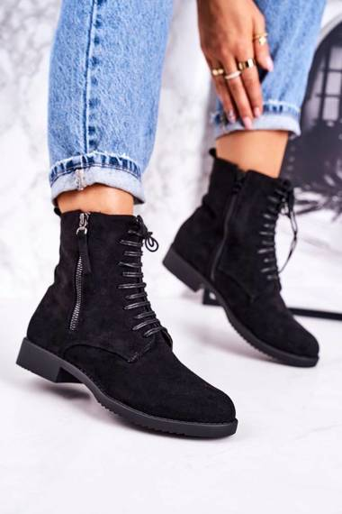 Classic Women's Insulated Boots Suede Black Simplicity