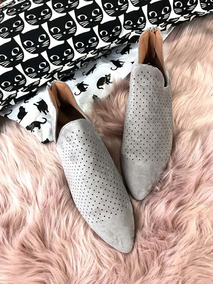 Grey Cut Out Boots Chelsea