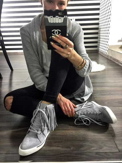 Lu Boo Grey Sneakers Emilly