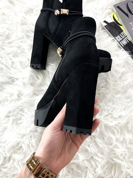 Lu Boo ankle boots high heels platform slip on
