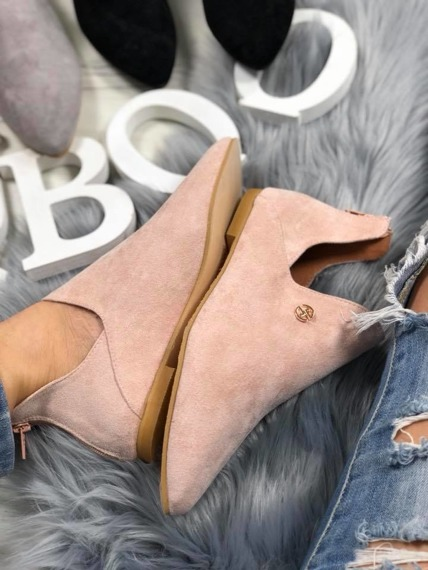Pink Chelsea Cut Out Boots