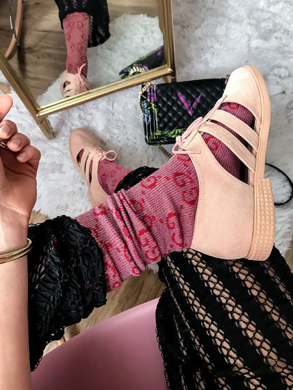 Pink Cutout shoes Meggy