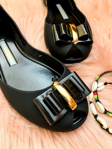 Rubber Shoes Ballet Flats With a Bow Fergie