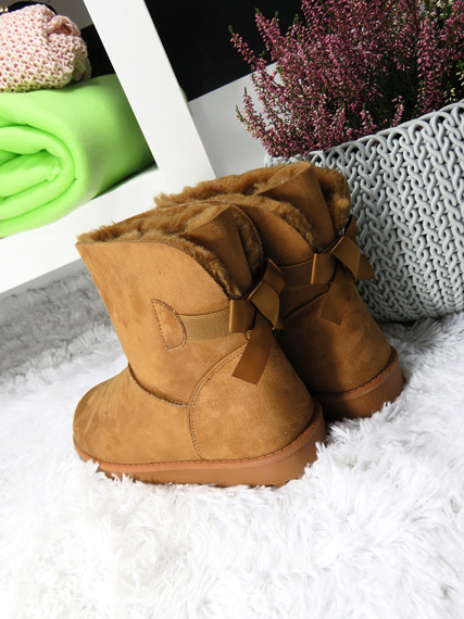 SLIP ON FUR ANKLE SNOW BOOTS