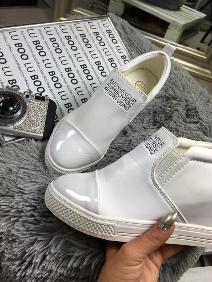 White Slip On Sneakers wedges Danica