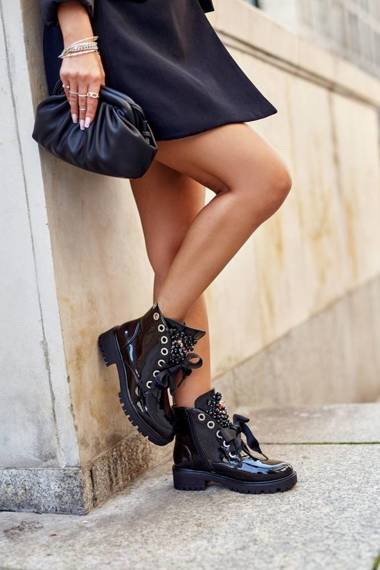 Women's Ankle Boots Warm Black Nambi