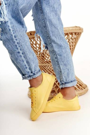 Women's Leather Sneakers BIG STAR HH274142 Yellow
