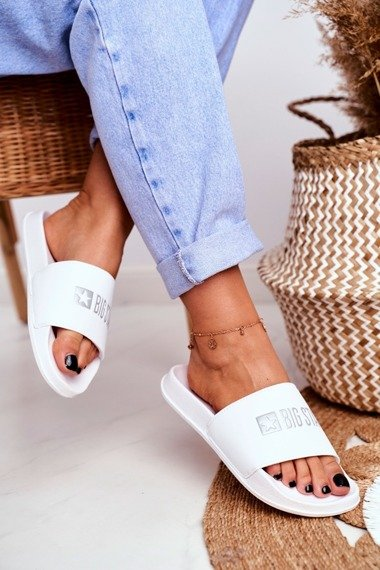 Women's Slides Big Star White GG274044