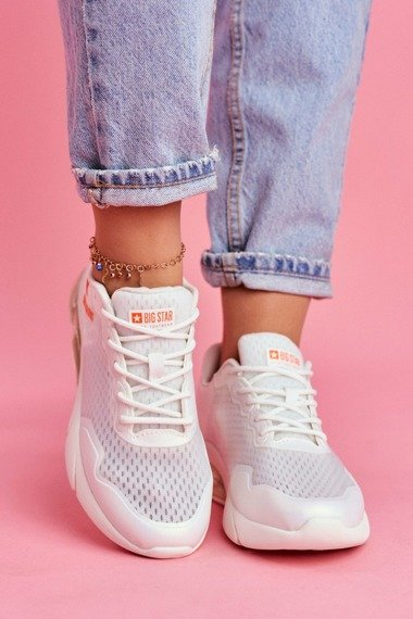 Women's Sport Shoes Sneakers Big Star White