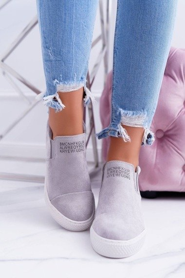 Women's Wedge Sneakers Lu Boo Grey Kaori