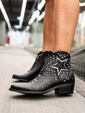 Black Cowboy Boots Madam Star