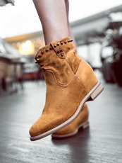 Classic camel ankle boots