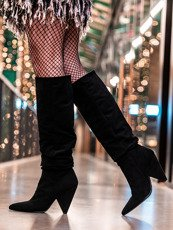 Black Slouch High Point Knee Boot