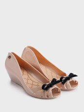 RUBBER BALLERINA WEDGE SHOES