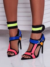 Sexy Neon Strappy Heels