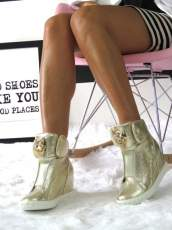 Trainers Wedges Sneakers Lion Head